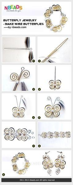 butterfly jewelry - make wire butterflies http://www.nbeads.com/article-butterfly-jewelry-make-wire-butterflies-773.html