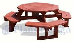Classic Octagon Picnic Table Woodworking Plans ODF08 | eBay