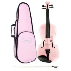 Pink Violin 4/4 Full Size, Pink Violin Case , Pink Violin Bow by Archetto Ireland