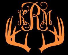 Deer Antler Monogram by SouthernStyleTaste on Etsy, $5.00