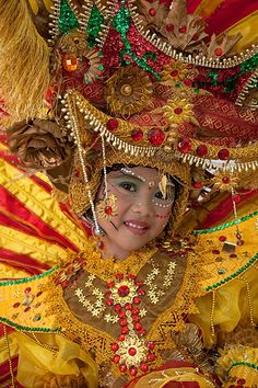 Costumed little girl, Jember Fashion Carnival, Jember, East Java, Indonesia
