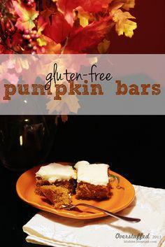 Amazingly Yummy Gluten-free Pumpkin Bars