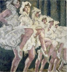 High Steppers by Walter Richard Sickert / book cover for The Complete Fiction by Francis Wyndham.