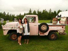 pickup trucks, pink truck, farm truck