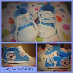Fondant work- baby converse shoe