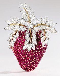 Ruby and diamond strawberry