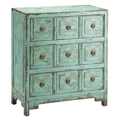 Stein World Hand Painted Apothecary Chest