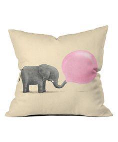 Jumbo Bubble Gum Throw Pillow // cute!