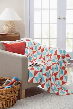Ravelry: Vintage Quilt Pinwheel Dishcloth/Blanket pattern by Loops & Threads™ Design Team