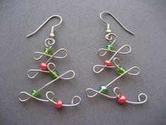 Cute Christmas tree earrings
