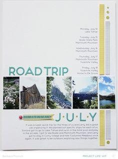 #papercraft #scrapbook #layout. Road Trip 2.0 by Babz510 at @studio_calico