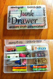 <3 Use tackleboxes as a junk drawer.