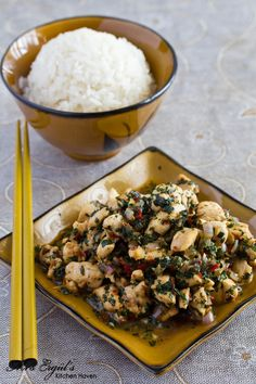 Thai Basil Chicken...I love Thai food and this looks really easy to make.