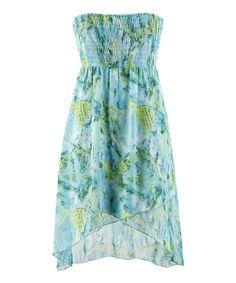 Sea Isle Shirred Strapless Dress