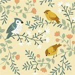 Acorn Trail Organic Cream Birds & Branches by Teagan White for Birch