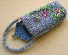 Tunisian crochet with beads