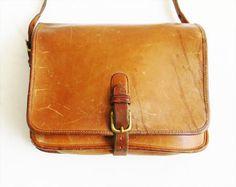 Vintage Leather COACH Bag Crossbody New York. $116.00, via Etsy.