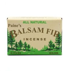 Paine's balsam fir incense (at Old Faithful Shop)