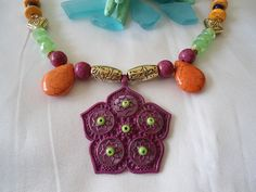 SALE  MOROCCAN STAR  Arabesque Ethnic Necklace  Arabian by Nezihe1, $24.99
