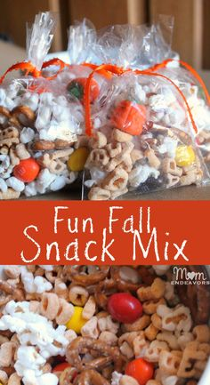 """Great """"educational"""" snacks for kids - a fun fall snack mix and a great spelling words snack included! #alphabits"""