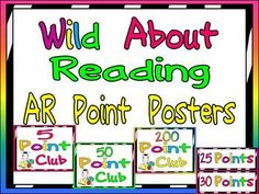 AR Point Tracking Display:)  Wild About Reading!!