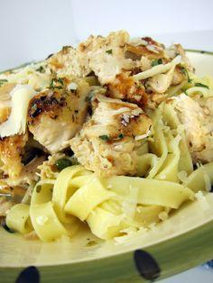 Grilled Chicken Piccata Pasta - grilled chicken instead of pan fried chicken