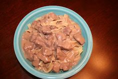 Slow Cooker Beef Stroganoff - my whole family liked this!  And NO mushrooms or mushroom soup!  :)
