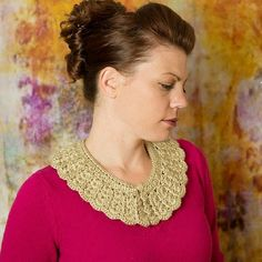 This vintage crochet collar is quick, simple and easy to make. It will give any outfit an awesome retro look and feel.