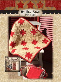 My Red Star quilt kit by myreddoordesigns on Etsy, $17.50
