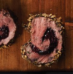 Sunflower-Encrusted Beef Tenderloin is truly a special dish. It's stuffed with the fruit from Wojapi Sauce you'll serve the beef with. Add an herby sunflower crust and you've got yourself a memorable meal.