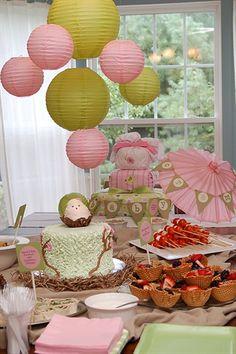 lantern, waffl bowl, bowl cake, babi boy, babi girl, babi shower, bowls, parti, baby showers