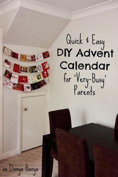 Totally do-able last minute Advent Calendar idea