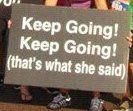 Sign from recent race! Running