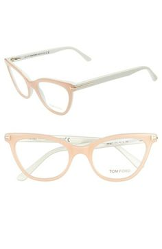 Love this shade of light/blush pink on these Tom Ford cat eye glasses