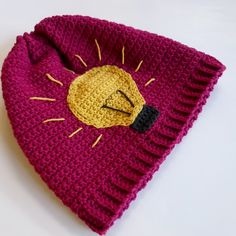 Ravelry: Bright Idea Hat The Light Bulb Thinking Cap crochet pattern by Darleen Hopkins