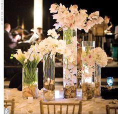 Beautiful white flower centerpieces