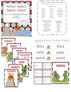 Hottest, Coldest, Highest, Deepest Reading Street  Grade 3  http://www.teacherspayteachers.com/Product/Hottest-Coldest-Highest-Deepest-Reading-Street-Grade-3-1069169