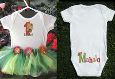 Hawaiian Hula Girl Birthday Onsie Tutu Outfit for by stinkychic, $26.00. I know the perfect little girl to give this to!