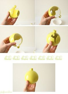 How to color a clear ornament.
