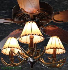 antler, rustic ceiling fan, cabin lodg, ceiling fans, ceil fan, rustic lighting, cabin sweet, rustic cabins, fan light