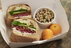 Roast Beef Sandwiches with White Bean Salad