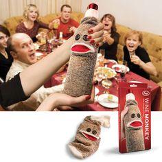Wine Monkey Bottle sock