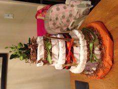 Safari theme diaper cake for baby shower :)