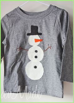 """Christmas Shirt-DIY - For a """"tacky x-mas sweater"""" kind of party - didn't this was really tacky, I would wear it, guess I know what that says about me, LOL!  HLR"""