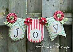 Ariane Stamps; A Christmas Joy banner, Build a Banner kit, Stampin' Up!
