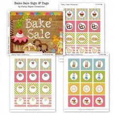 Bake sale tags freebie
