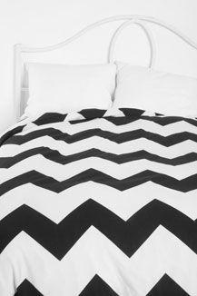 black white bed