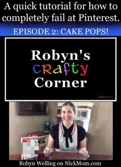Everyone's seen cake pops on Pinterest - and everyone's seen hilariously botched attempts at making cake pops, too! Watch this short video to get a behind-the-scenes look at how they can go so terribly wrong! #tutorial #humor #baking #cakepops by @RobynHTV on @NickMom
