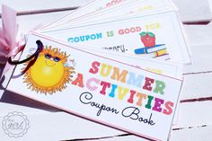 Summer Activites Coupon Book from the Girl Creative #summer #summeractivities #coupons
