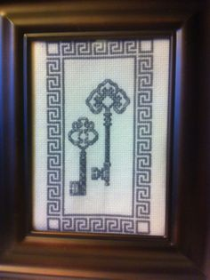 Gray Key Cross Stitch